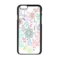 Prismatic Neon Floral Heart Love Valentine Flourish Rainbow Apple Iphone 6/6s Black Enamel Case by Mariart