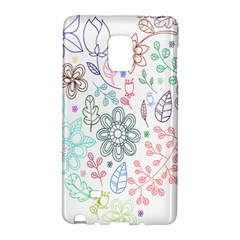 Prismatic Neon Floral Heart Love Valentine Flourish Rainbow Galaxy Note Edge by Mariart