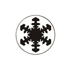 Snowflakes Black Hat Clip Ball Marker (4 Pack) by Mariart