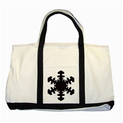 Snowflakes Black Two Tone Tote Bag by Mariart
