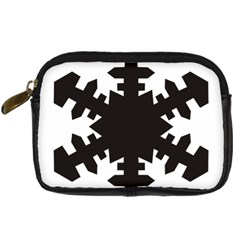 Snowflakes Black Digital Camera Cases by Mariart