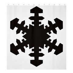 Snowflakes Black Shower Curtain 66  X 72  (large)  by Mariart