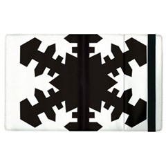 Snowflakes Black Apple Ipad 2 Flip Case by Mariart
