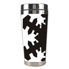 Snowflakes Black Stainless Steel Travel Tumblers by Mariart