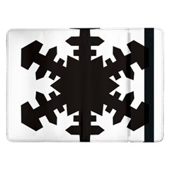 Snowflakes Black Samsung Galaxy Tab Pro 12 2  Flip Case by Mariart