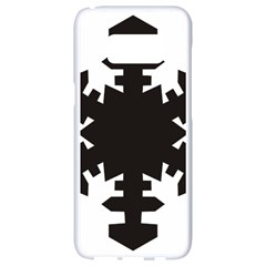 Snowflakes Black Samsung Galaxy S8 White Seamless Case by Mariart