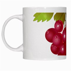 Red Fruit Grape White Mugs by Mariart