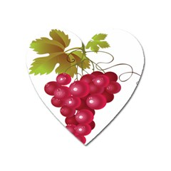 Red Fruit Grape Heart Magnet by Mariart