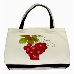 Red Fruit Grape Basic Tote Bag by Mariart