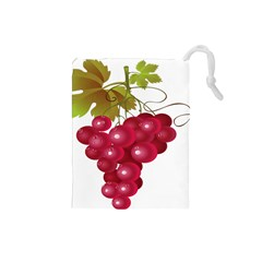Red Fruit Grape Drawstring Pouches (small)  by Mariart