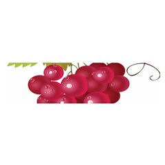 Red Fruit Grape Satin Scarf (oblong)