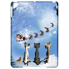 Christmas, Cute Cats Looking In The Sky To Santa Claus Apple Ipad Pro 9 7   Hardshell Case by FantasyWorld7