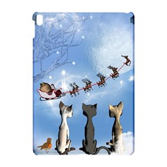 Christmas, Cute Cats Looking In The Sky To Santa Claus Apple Ipad Pro 10 5   Hardshell Case by FantasyWorld7