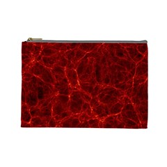 Simulation Red Water Waves Light Cosmetic Bag (large)  by Mariart