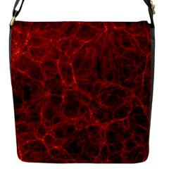 Simulation Red Water Waves Light Flap Messenger Bag (s) by Mariart