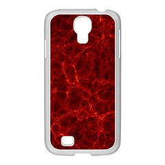 Simulation Red Water Waves Light Samsung Galaxy S4 I9500/ I9505 Case (white) by Mariart