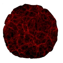 Simulation Red Water Waves Light Large 18  Premium Flano Round Cushions by Mariart