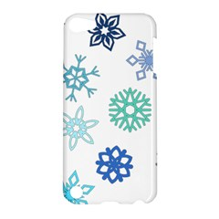 Snowflakes Blue Green Star Apple Ipod Touch 5 Hardshell Case by Mariart