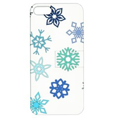 Snowflakes Blue Green Star Apple Iphone 5 Hardshell Case With Stand by Mariart