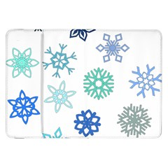 Snowflakes Blue Green Star Samsung Galaxy Tab 8 9  P7300 Flip Case by Mariart