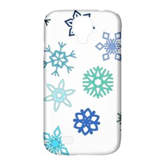 Snowflakes Blue Green Star Samsung Galaxy S4 Classic Hardshell Case (pc+silicone) by Mariart