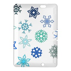 Snowflakes Blue Green Star Kindle Fire Hdx 8 9  Hardshell Case by Mariart