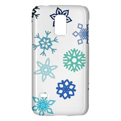 Snowflakes Blue Green Star Galaxy S5 Mini by Mariart