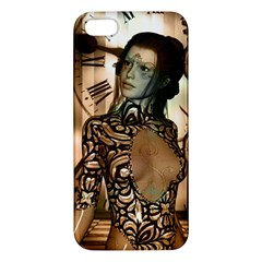 Steampunk, Steampunk Women With Clocks And Gears Iphone 5s/ Se Premium Hardshell Case by FantasyWorld7