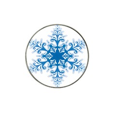 Snowflakes Blue Flower Hat Clip Ball Marker (4 Pack) by Mariart