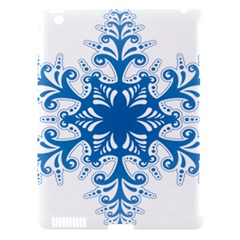 Snowflakes Blue Flower Apple Ipad 3/4 Hardshell Case (compatible With Smart Cover) by Mariart