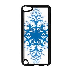 Snowflakes Blue Flower Apple Ipod Touch 5 Case (black) by Mariart