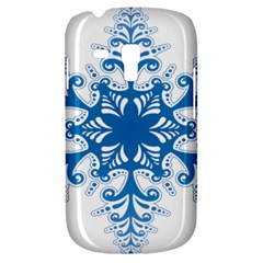 Snowflakes Blue Flower Galaxy S3 Mini by Mariart