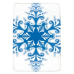 Snowflakes Blue Flower Flap Covers (s)  by Mariart