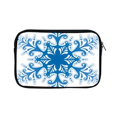 Snowflakes Blue Flower Apple Ipad Mini Zipper Cases by Mariart