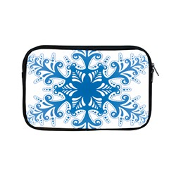 Snowflakes Blue Flower Apple Macbook Pro 13  Zipper Case by Mariart