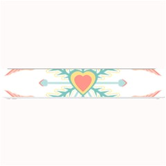 Snowflakes Heart Love Valentine Angle Pink Blue Sexy Small Bar Mats by Mariart