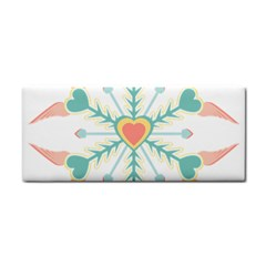 Snowflakes Heart Love Valentine Angle Pink Blue Sexy Cosmetic Storage Cases by Mariart