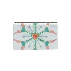Snowflakes Heart Love Valentine Angle Pink Blue Sexy Cosmetic Bag (small)  by Mariart