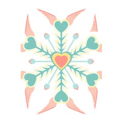 Snowflakes Heart Love Valentine Angle Pink Blue Sexy 5 5  X 8 5  Notebooks by Mariart