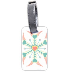 Snowflakes Heart Love Valentine Angle Pink Blue Sexy Luggage Tags (one Side)  by Mariart