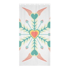Snowflakes Heart Love Valentine Angle Pink Blue Sexy Shower Curtain 36  X 72  (stall)  by Mariart