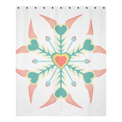 Snowflakes Heart Love Valentine Angle Pink Blue Sexy Shower Curtain 60  X 72  (medium)  by Mariart