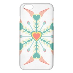 Snowflakes Heart Love Valentine Angle Pink Blue Sexy Iphone 6 Plus/6s Plus Tpu Case by Mariart