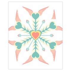 Snowflakes Heart Love Valentine Angle Pink Blue Sexy Drawstring Bag (small) by Mariart
