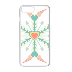 Snowflakes Heart Love Valentine Angle Pink Blue Sexy Apple Iphone 7 Plus White Seamless Case by Mariart