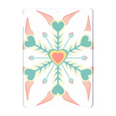 Snowflakes Heart Love Valentine Angle Pink Blue Sexy Apple Ipad Pro 10 5   Hardshell Case by Mariart