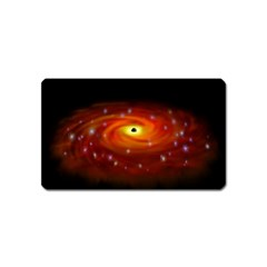 Space Galaxy Black Sun Magnet (name Card) by Mariart