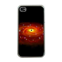 Space Galaxy Black Sun Apple Iphone 4 Case (clear) by Mariart