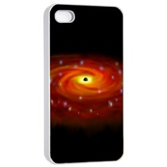 Space Galaxy Black Sun Apple Iphone 4/4s Seamless Case (white) by Mariart