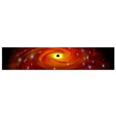 Space Galaxy Black Sun Flano Scarf (small)